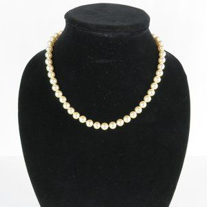 """Vintage Pearl Choker Necklace 8.5"""""""